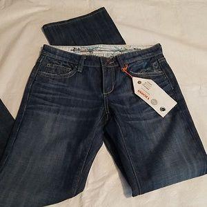 Vigoss Jeans Troya Flare Floral Pockets Sz 27 NEW